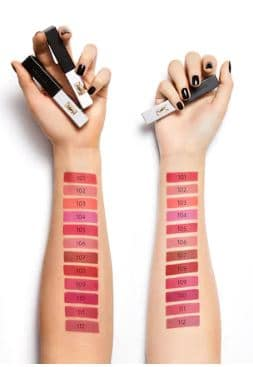 Yves Saint Laurent Rouge Pur Couture Swatches