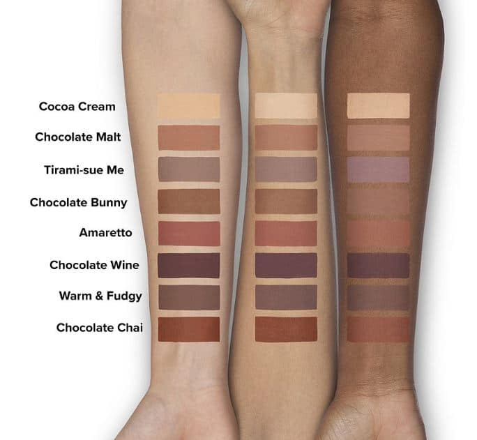 Too Faced Melted Chocolate Matte Liquid Eyeshadow Swatches
