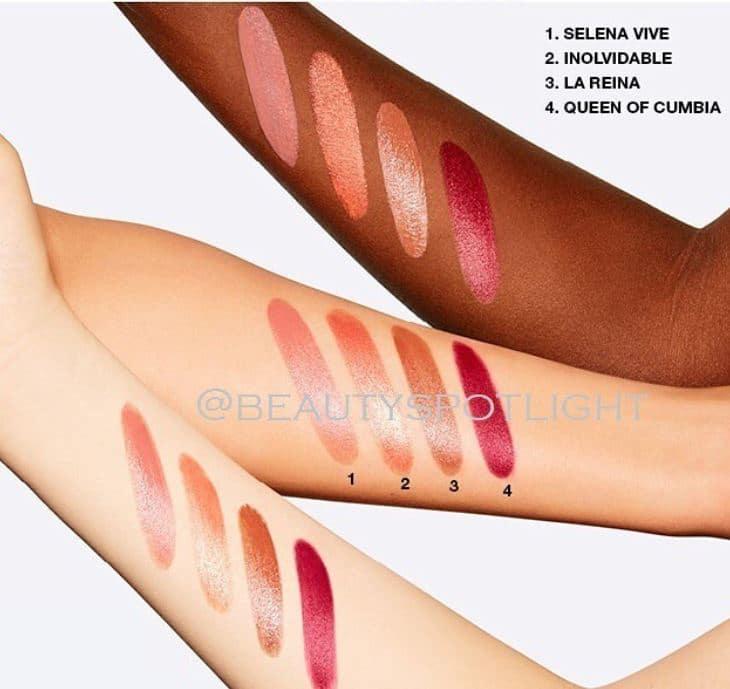 lipstick swatches Selena La Reina Collection