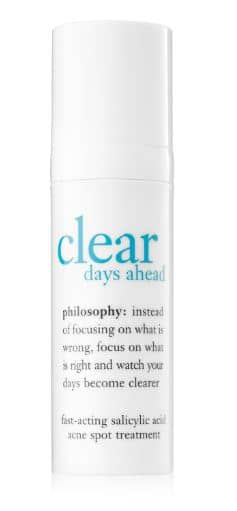 Philosophy acne spot treatment clear days ahead review