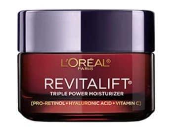 Anti aging with retinol loreal revitalift