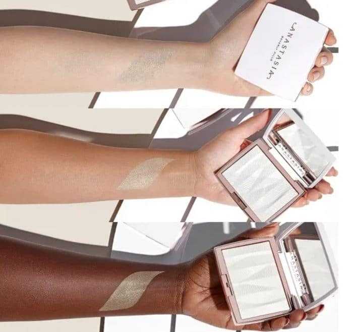 Anastasia Beverly Hills Iced Out Highlighter Swatches