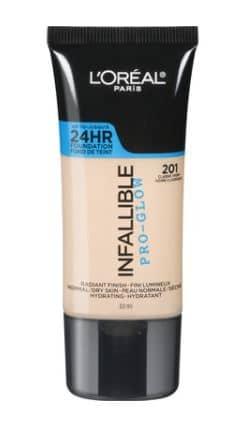 L'Oreal Infallible Pro-Glow Foundation charlotte tilbury makeup dupe