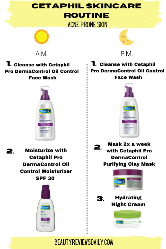 Cetaphil Skin Care Routine Acne Prone Skin